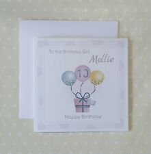 Personalised 10th Birthday Card for girls. Age card 8 9 10 11 12 13 14 15 16