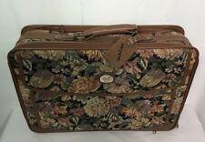 DVF Diane von Furstenberg Luggage Suitcase Travel Tote Bag Tapestry Vintage