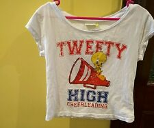 Tweety High Size 10 Cheer leading t-shirt cap sleeve