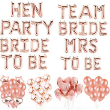 Team Bride To Be Hen Party  Balloons Foil Latex Helium Letter Number Wedding Dec