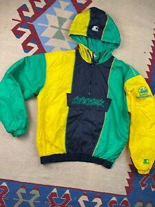 Vtg Seattle Supersonics Starter Half Zip Color Block Windbreaker Jacket Size M