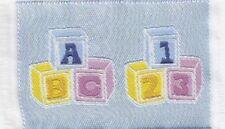 Teppich Blau mit Würfeln, Puppenhaus, Puppenstube 1:12