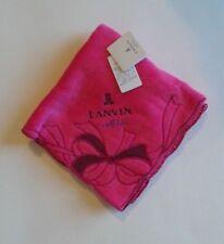 NWT LANVIN en Bleu Handkerchief Washcloth Small Towel 100% Cotton #F