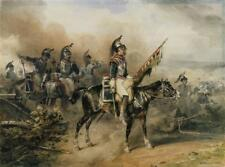 """perfect 36x24 oil painting handpainted on canvas"""" French cuirassiers """"@10728"""