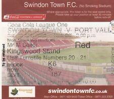 Ticket - Swindon Town v Port Vale 19.04.08