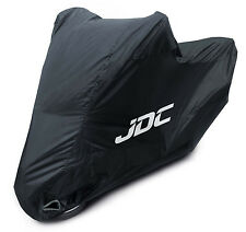 JDC Waterproof Motorcycle Cover Motorbike Breathable Vented Black - RAIN - LARGE