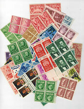 100 Different blocks of 4 1c 2c 3c 4c 5c 6c 8c  30+ year old postage MNH OG