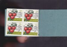 Uganda Agricultural Crops Tomatoes Stamp Booklet 10  50 cents cent tomato K-934