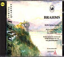 BRAHMS: Piano/Clarinet Quintets CD- Medici String Quartet- John Lill/Jack Brymer