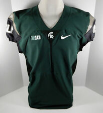 2015 Michigan State Spartans Blank # Game Issued Green Jersey 48 Nike