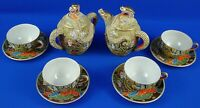 Vintage Japanese Satsuma Dragon Ware Tea 12 Pieces Set