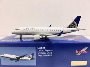 Herpa Wings United Express Embraer E170 1:400 N644RW 562584