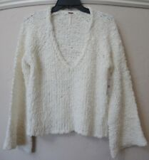 People Ob767524 Sand Dune Knit Pullover Long Sleeve Sweater Ivory L