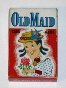 Vintage 1940s-1950s Whitman OLD MAID Card Game 3009! COMPLETE Deck Original Box!