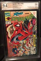 Spider-Man #16 PGX SS 9.4, Signed Todd McFarlane,Last McFarlane Spidey + Bonus!