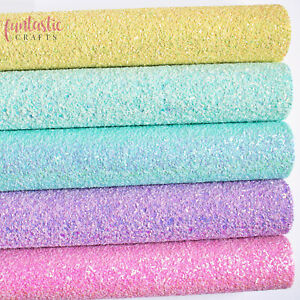 Chunky Mixed Glitter Fabrics - A4 Sheets for Crafts & Bows - Premium Quality