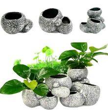 Aquarium Plant Bonsai Stone Pot Fish Tank Stone Cave Decoration Fish Breeder