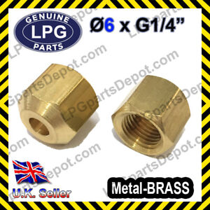 D6 x G1/4 NUT FEMALE Compression Connector copper pipe Joint Coupling Gas LPG