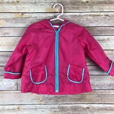 Joe Fresh Baby Girls Jacket Nylon Zip Up Hooded Windbreaker Solid Pink 12-18M
