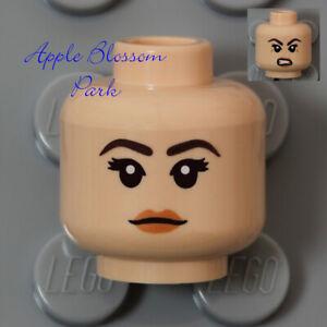 NEW Lego Light Flesh FEMALE MINIFIG HEAD w/Princess Pink Peach Lips Girl Smile