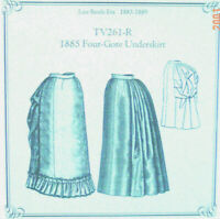 Truly Victorian TV462 sewing Pattern for 1883-1889 Tail Bodice long and short