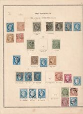 France  Stamp Collection on Old Album Page - Used