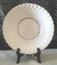 1 Homer Laughlin ARCADIA Swirl Oval Vegetable Bowl w/Platinum Trim & Leaf, By
