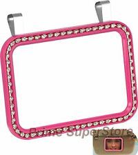 New Pink Diamonds/Crystals Bling Clip On Sun Visor /Vanity Mirror Car/Automobile