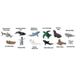 New BABY SEALIFE model marine creatures toob figurines play / cake decorations