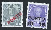 AUTRICHE TAXE  N°: 47 / 48 NEWS    year 1916    CV: 3 €