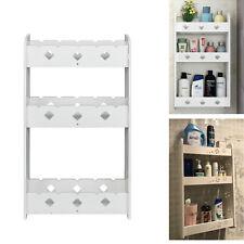 3 Tiers Bathroom Wall Mounted Storage Cabinet Shelf Rack White