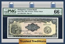 TT PK 136e 1949 PHILIPPINES CENTRAL BANK 10 PESOS PMG 66 EPQ POP 2 NONE FINER!