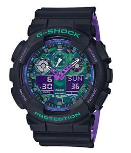 G-Shock World Time Alarm Analog Digital Men's Watch GA-100BL-1A