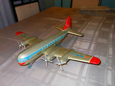 "HUGE!!! 19"" INCH ""ALPS"" NWA NorthWest Antique Tin Toy Airplane Japan Friction"