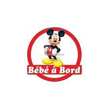 Sticker autocollant enfant Bébé à bord Mickey 16x16cm réf 3569