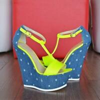 US5-15 FASHION Womens Sandals Platform Wedge Sandals Party Shoes Women Plus Size