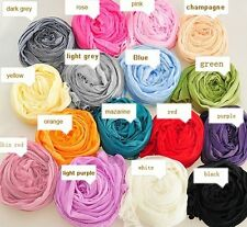 12 Colors Candy Women Girl Thin Long Crinkle Design Soft scarf shawls Wrap Stole