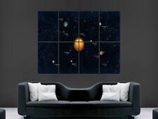 PLANET SOLAR SYSTEM ART IMAGE HUGE  LARGE PICTURE POSTER GIANT