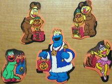 Sesame Street Ernie Bert Cookie Monster Zoe Halloween Fabric Iron On Appliques