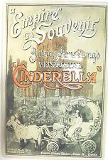 "Cinderella Pantomime Empire Souvenir Dublin 1919 8""X12"" Embossed Metal Sign"