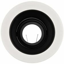 """4"""" INCH RECESSED CAN LIGHT BLACK STEPPED BAFFLE TRIM 12V MR16 REPLACE HALO 1493"""