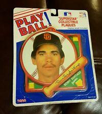 BENITO SANTIAGO PLAY BALL Superstar Collectible Plaque 1989 by Tara MLB