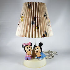 New listing Vintage Mickey Minnie Mouse Nursery Lamp Nightlight The Dolly Toy Co Disney 1986