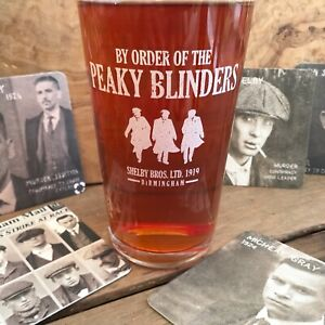Peaky Blinders Pint Glass Tommy Shelby Birthday Gift