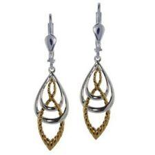 Keltische Knoten Ohrringe mit Gold-Ton Effekt