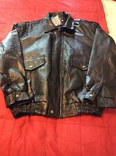 Napoline Leather Outfitter Black Lined Full Zip Motorcycle Leather Jacket XL