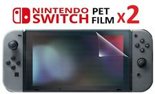 2x Nintendo Switch PET Screen Protector Film Protection 100% Clear - TWIN PACK
