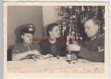 (F11218) Orig. Foto Familie Bager Weihnachten zu Hause 1941, Wohnung in Köln, Va