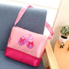 Girls Canvas Dance Bag Children Ballerina Backpacks Cute Embroidered Handbag