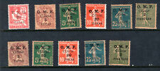 1919 High Quality CILICIA / France / Turkey Stamps, Assort. Sc. #100-123 Mint HR